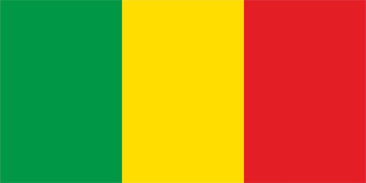 Флаг Мали размер 1 х 2 метра.