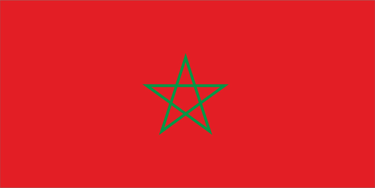 Флаг Марокко размер 1 х 2 метра.