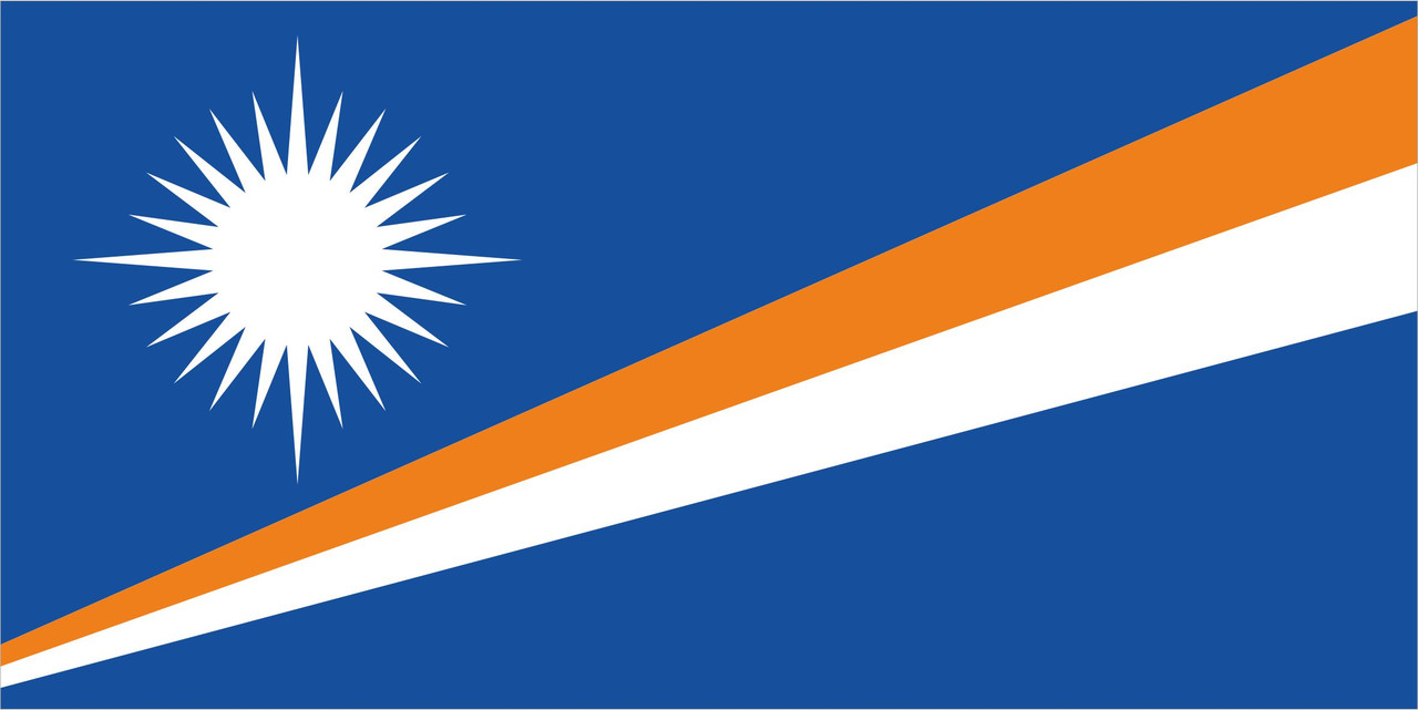 Флаг Маршалловых-Островов размер 1 х 2 метра.