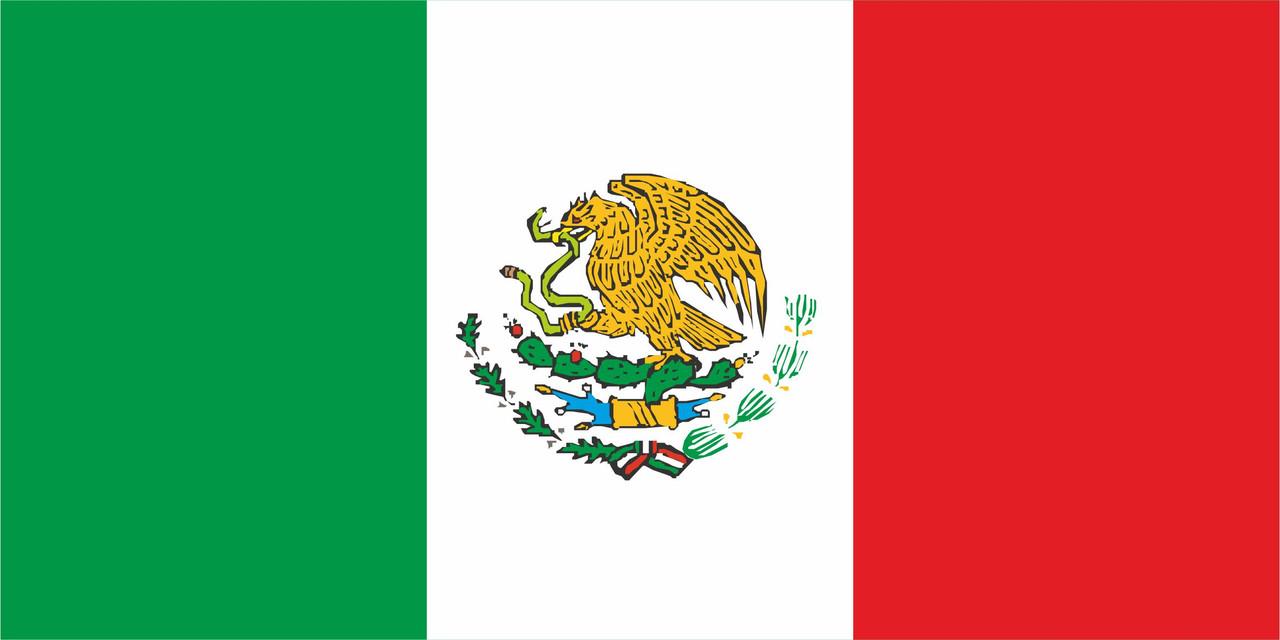 Флаг Мексики размер 1 х 2 метра.