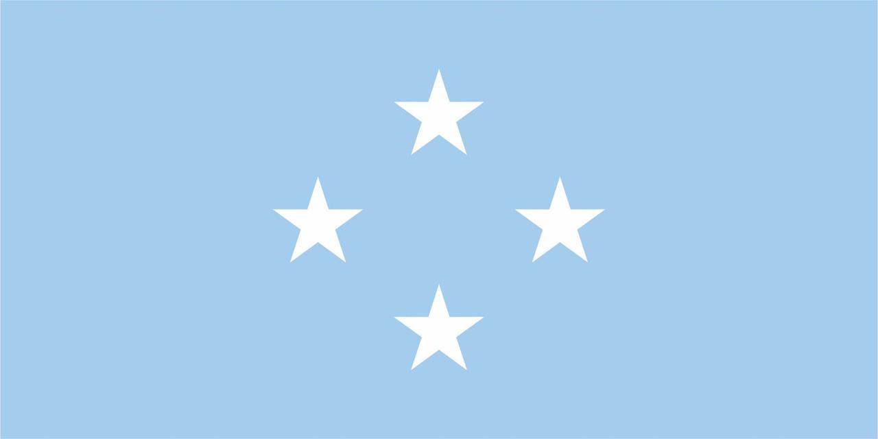 Флаг Микронезии размер 1 х 2 метра.