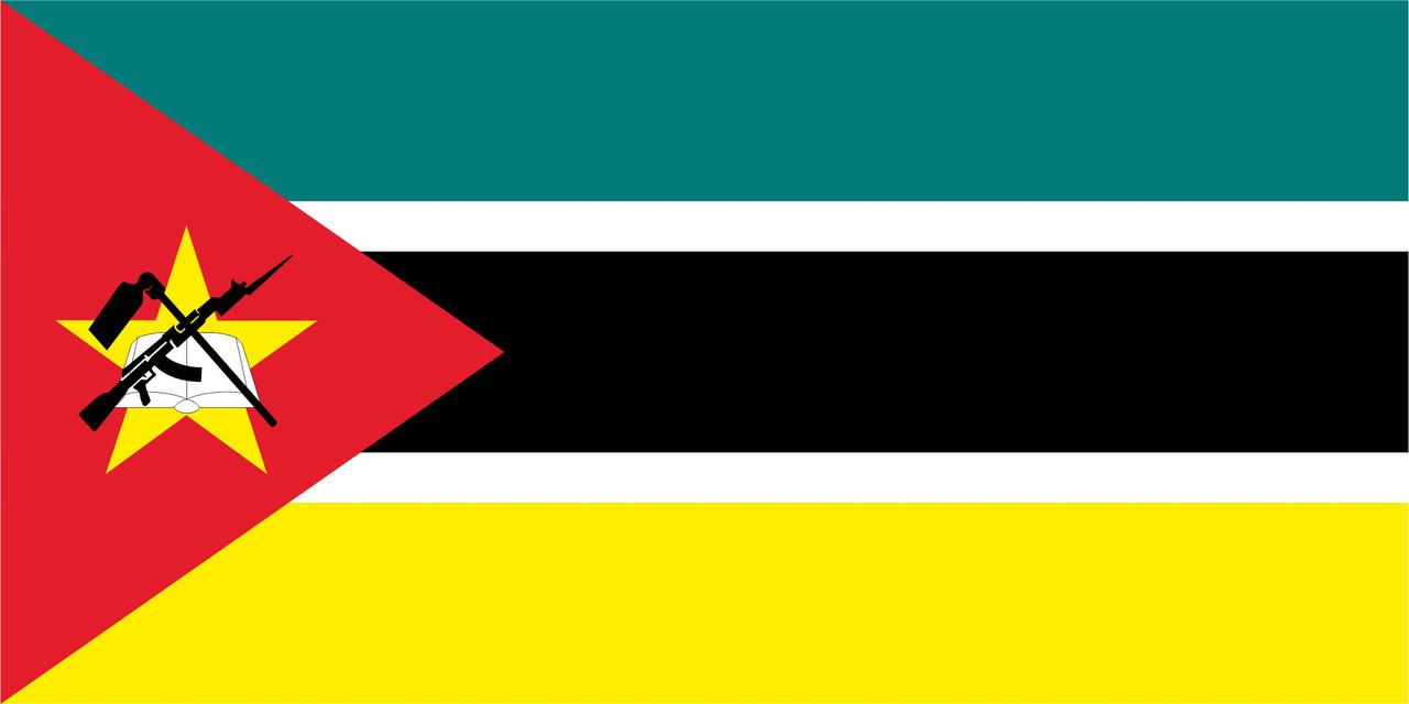 Флаг Мозамбика размер 1 х 2 метра.