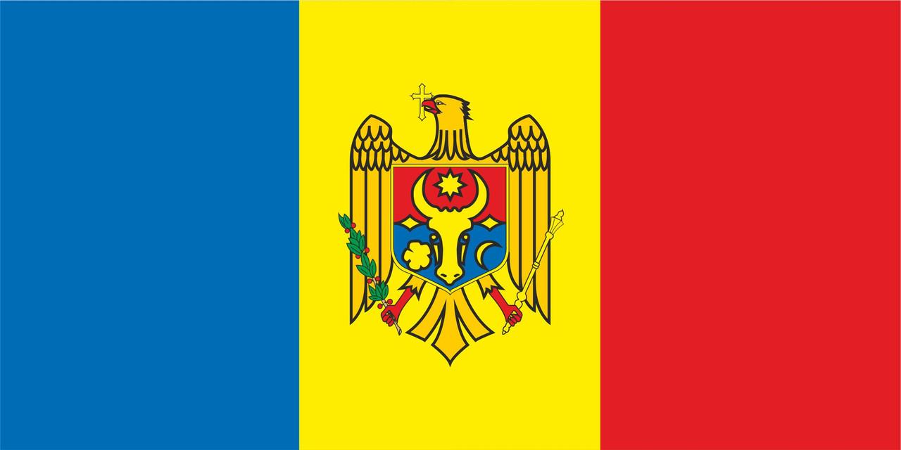 Флаг Молдавии размер 1 х 2 метра.