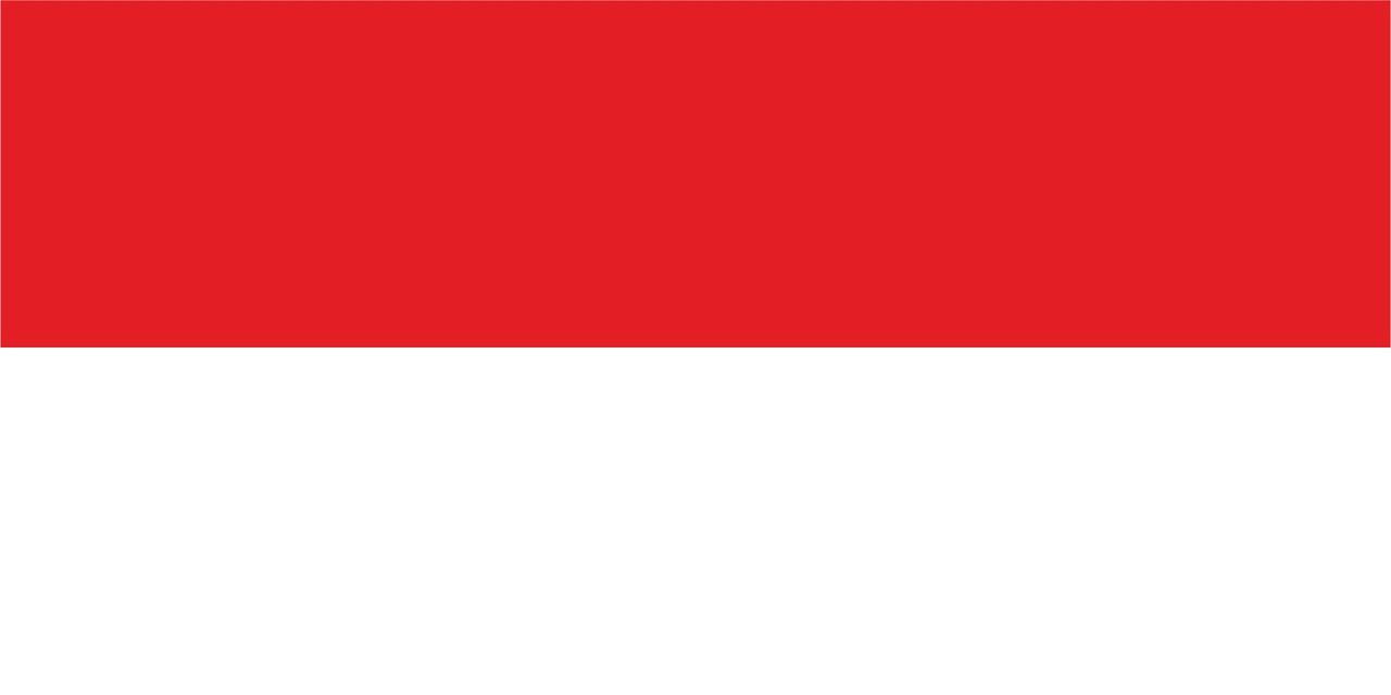 Флаг Монако размер 1 х 2 метра.