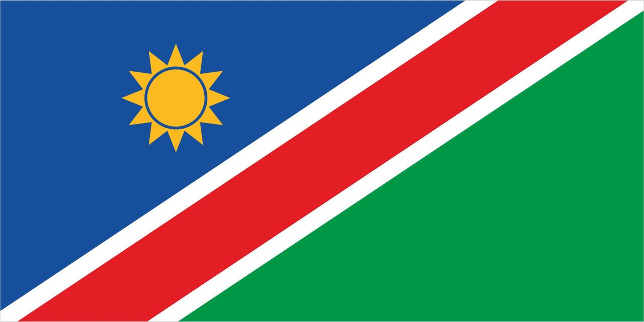 Флаг Намибии размер 1 х 2 метра.