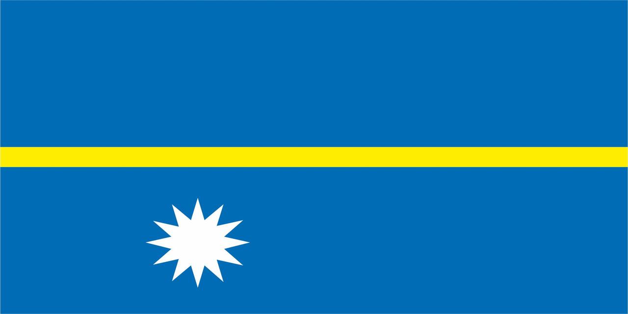 Флаг Науру размер 1 х 2 метра.