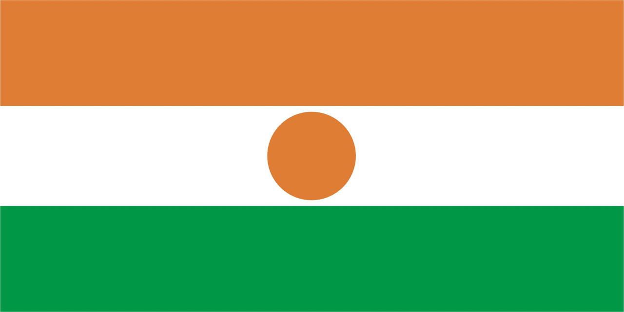 Флаг Нигера размер 1 х 2 метра.