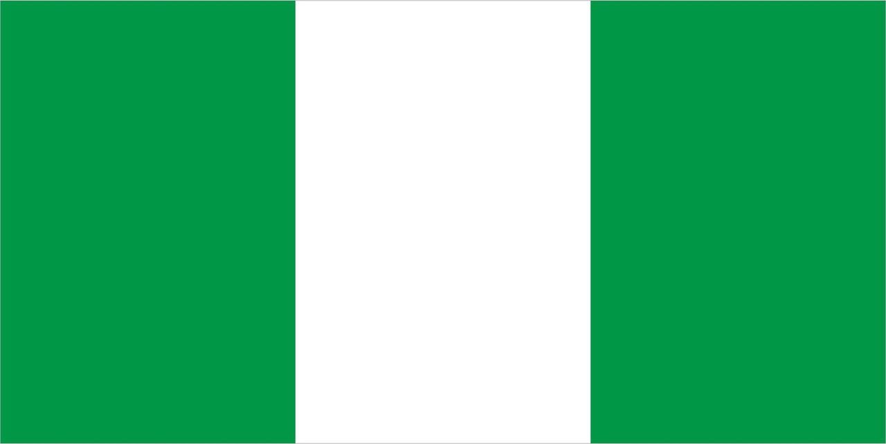 Флаг Нигерии размер 1 х 2 метра.