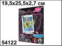 Роспись по холсту и украшение пайетками Лагуна Monster High