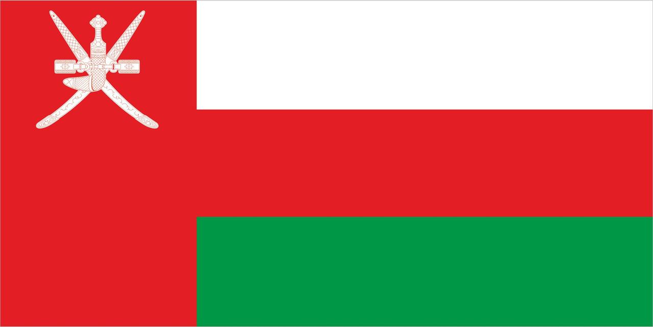 Флаг Омана 1 х 2 метра.