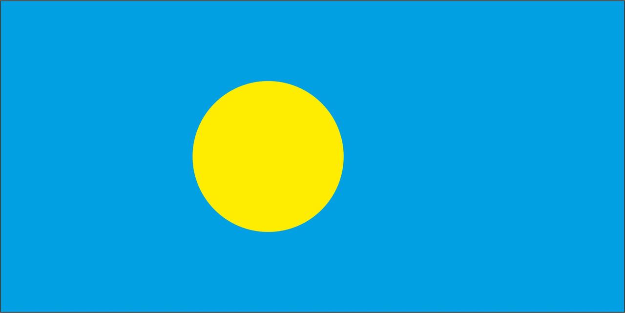 Флаг Палау 1 х 2 метра.