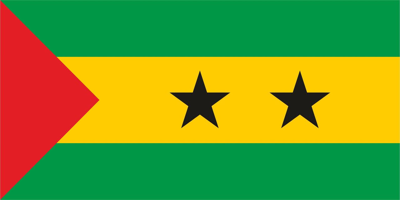 Флаг Сан-Томе и Принсипи 1 х 2 метра.