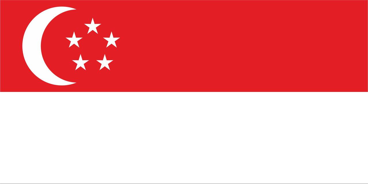 Флаг Сингапура 1 х 2 метра.