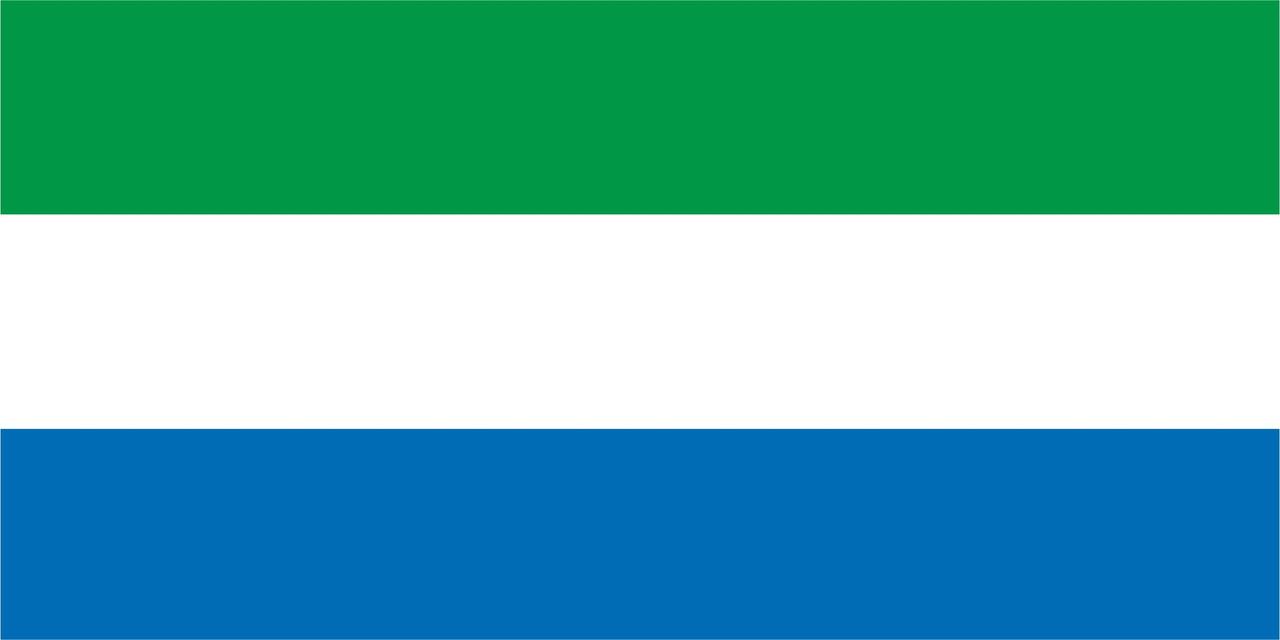 Флаг Сьерра-Леоне 1 х 2 метра.