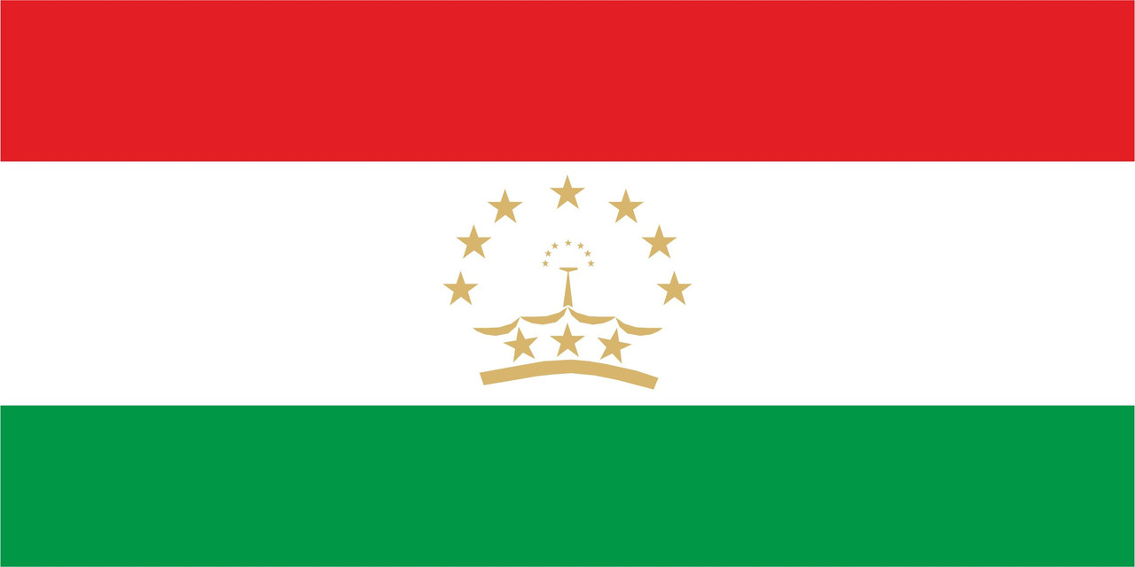 Флаг Таджикистана 1 х 2 метра.