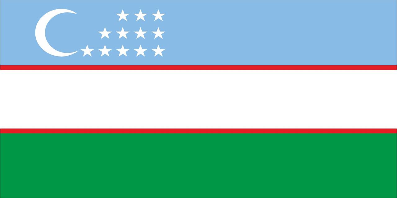 Флаг Узбекистана 1 х 2 метра.