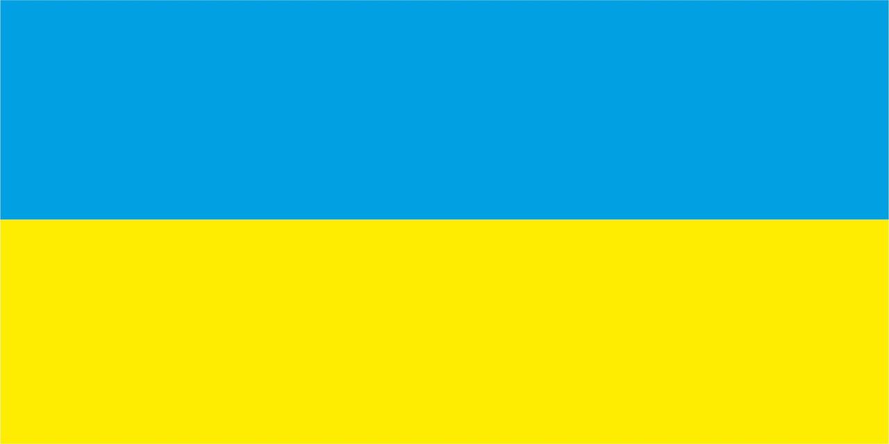 Флаг Украины 1 х 2 метра.