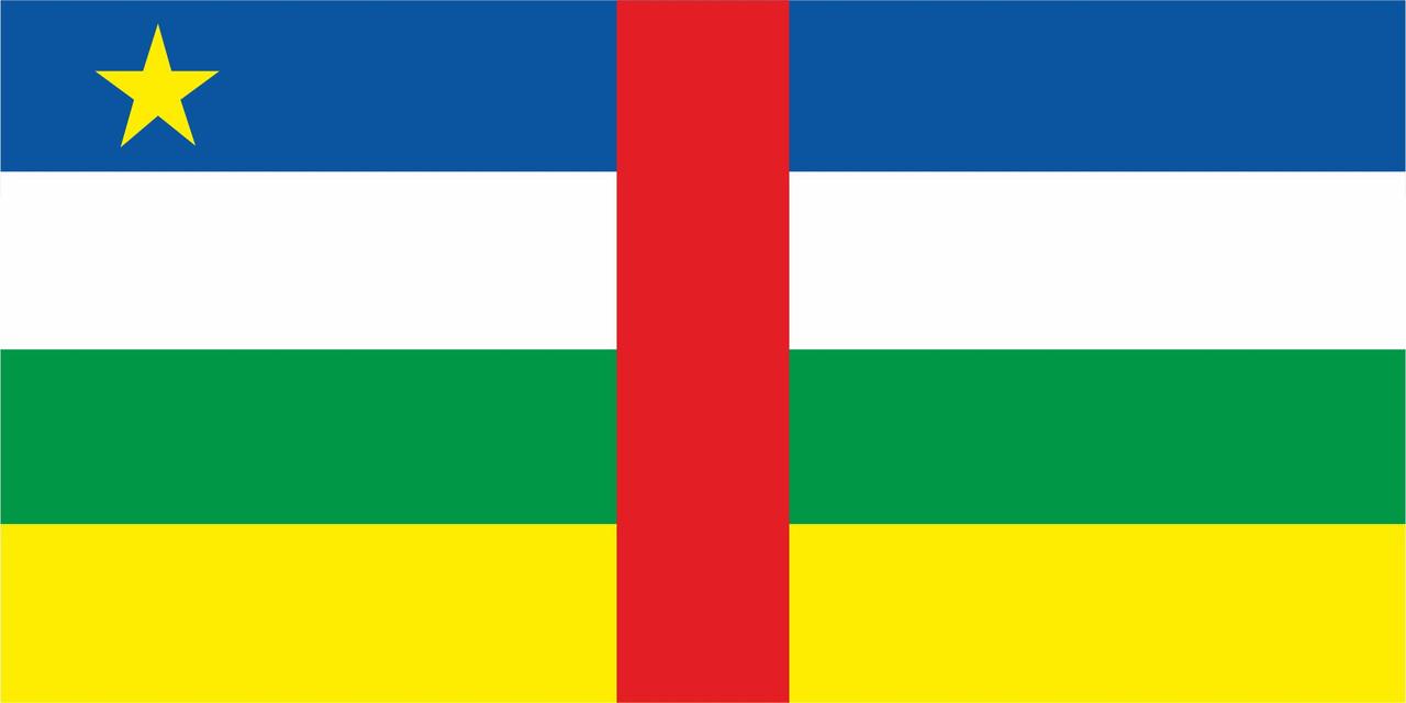 Флаг Центрально-африканской Республики 1 х 2 метра.