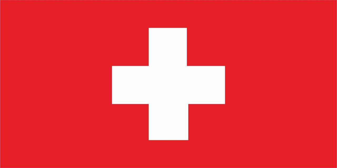 Флаг Швейцарии 1 х 2 метра.