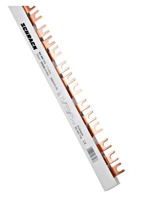 Шина вилочная 3-х полюсная L1,L2,L3 10мм.кв. 63А , 1 метр