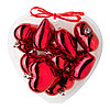 ВИНТЕР 2015 Украшение подвесное, сердце красный  9 шт