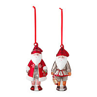 ВИНТЕР 2015 Украшение подвесное, стекло, Санта Клаус  2 шт, фото 1