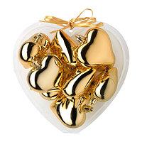 ВИНТЕР 2015 Украшение подвесное, сердце золотой  9 шт