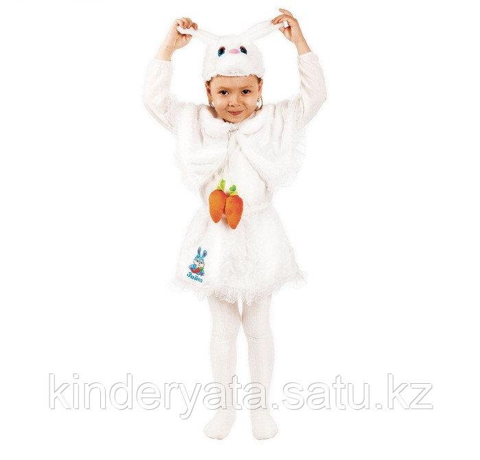 """Карнавальный костюм """"Зайка"""" 3 предмета: шапка, накидка, юбка, 3-6 лет, рост 104-120 см"""