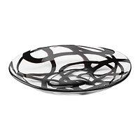 Тарелка ФИРАНДЕ прозрачное стекло черный ИКЕА, IKEA, фото 1