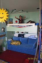Кровать детская двухъярусная с диваном