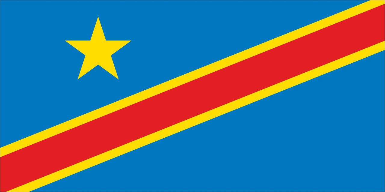 Флаг Демократической Республики Конго размер 1 х 2 метра.
