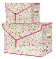 Органайзер для хранения вещей 2 в 1, коробка для хранения в цветочек