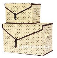 Органайзер для хранения 2 в 1, коробка для хранения бежевый, фото 1