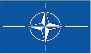 Флаг НАТО. Организа́ция Североатланти́ческого догово́ра.