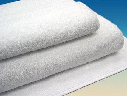 Махровое полотенце 70*140 белое, Туркмения (плотность 430 г/м2)