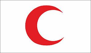 Флаг Красный полумесяц. Международное движение Красного Креста и Красного Полумесяца.