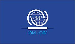 Флаг МОМ. Международная Организация по Миграции (МОМ)