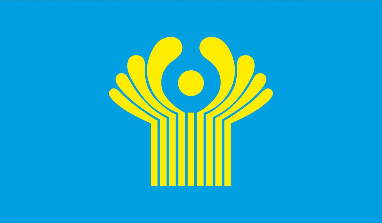 Флаг СНГ. Содружество Независимых Государств.