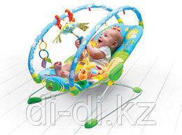 Вибрирующее кресло-шезлонг Tiny Love с дугами и игрушками (свет, звук)