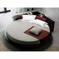 Круглая кровать в дизайне интерьера