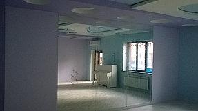 Установка зеркала в танцевальный зал (30 июня 2015) 1