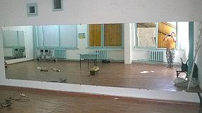 Установка зеркал в танцевальный зал (12 июня 2015) 1
