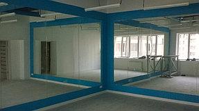 Установка зеркал в танцевальный зал (15 июля 2015) 3
