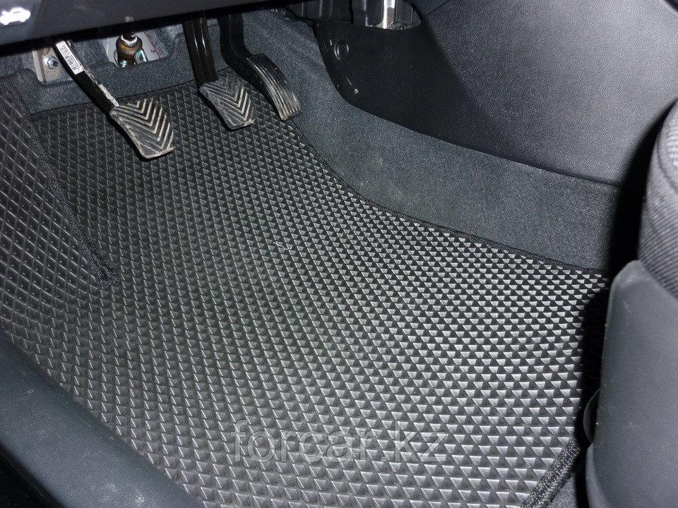 Коврики в салон Mercedes S-класс W140 1991-1998 - черные/черный кант