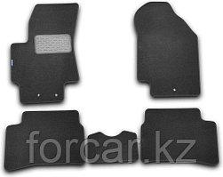 Коврики в салон TOYOTA Corolla, 2013-> 4 шт. (текстиль, черные)