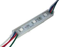 Модуль светодиодный (кластер) 3 SMD5050, RGB, 12V, IP67