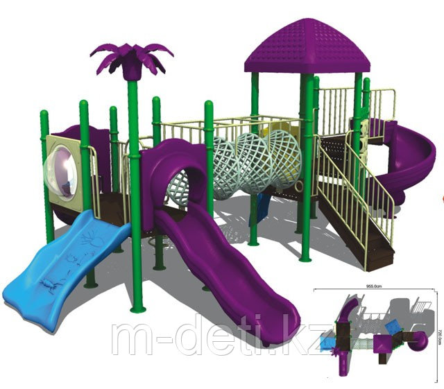 Купить: Детский игровой комплекс №10-5905, игровая площадка, детский городок, горка