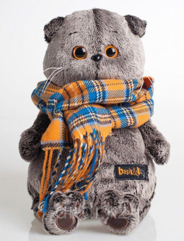Игрушка Кот Басик и шарф в клеточку