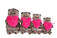 Игрушка мягкая Кот Басик с розовым сердцем, фото 1