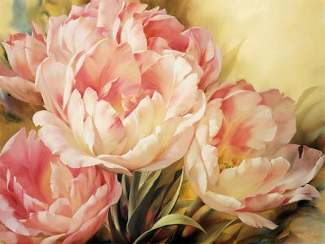 """Картины стразами """"Розовые тюльпаны"""" 40х50 см"""